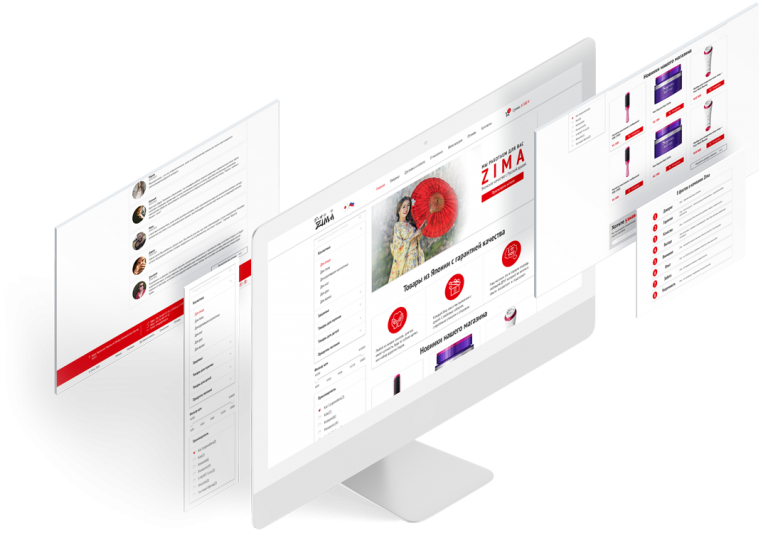 Дизайн интернет-магазина «Zima»