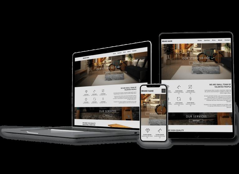 Сайт для студии мебели