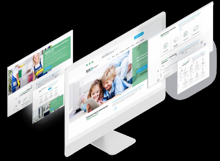 """Бизнес сайт для клининговой компании """"RIKO Service"""""""