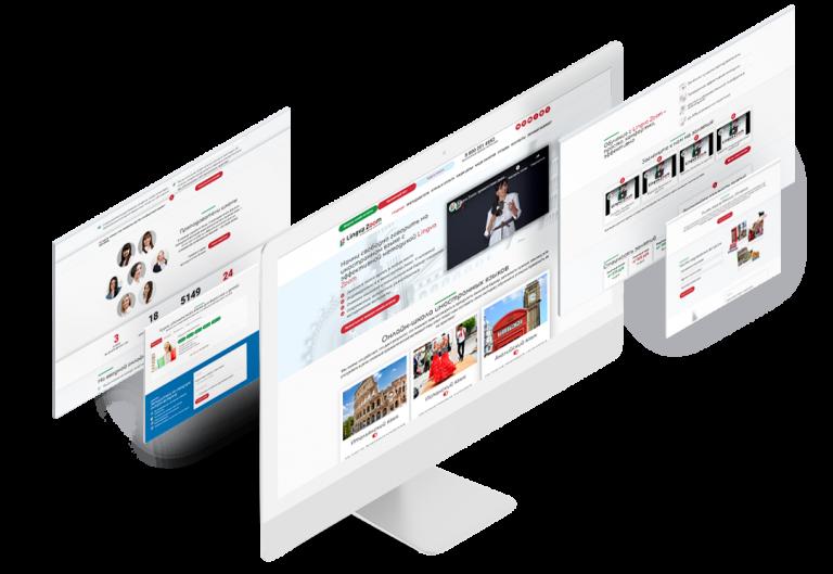 Сайт-каталог для языковой онлайн школы «Lingva Zoom»