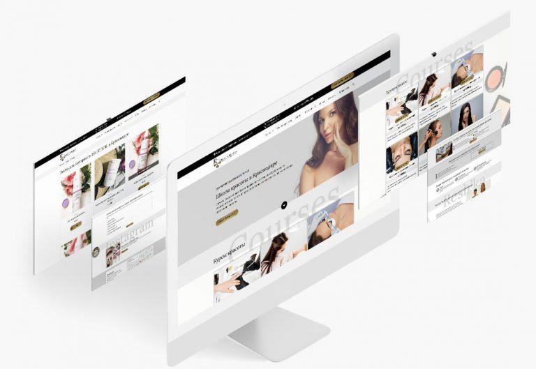 Сайт для школы красоты Beauty Resh'ka
