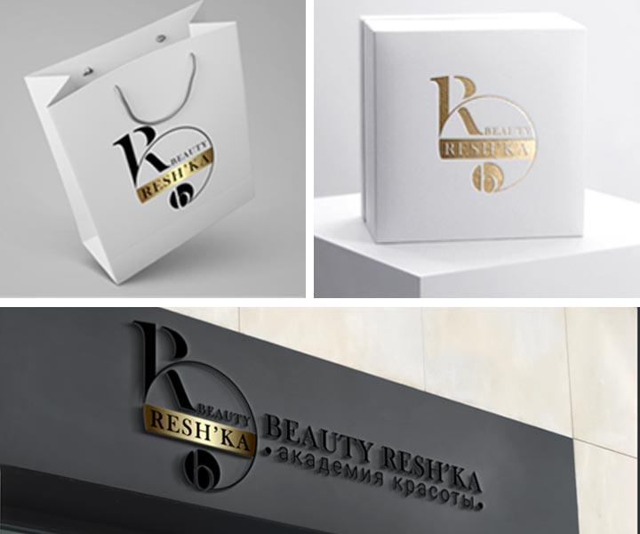 Логотип для школы красоты Beauty Resh'ka