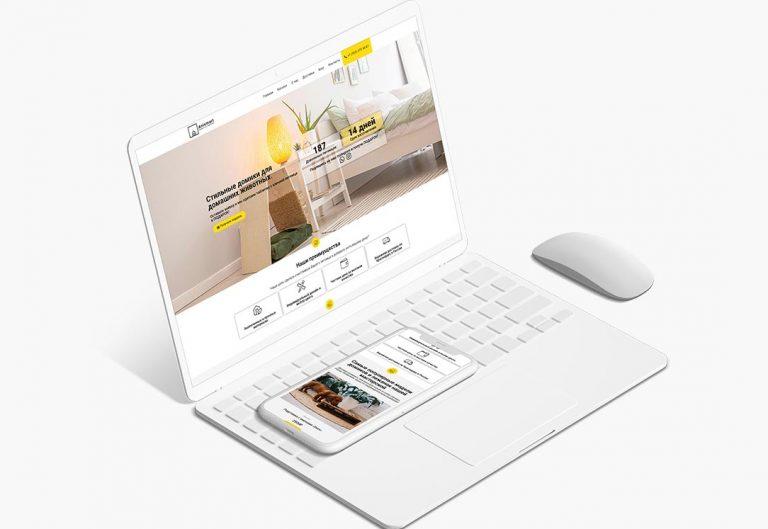 Сайт для anismart – товары для животных