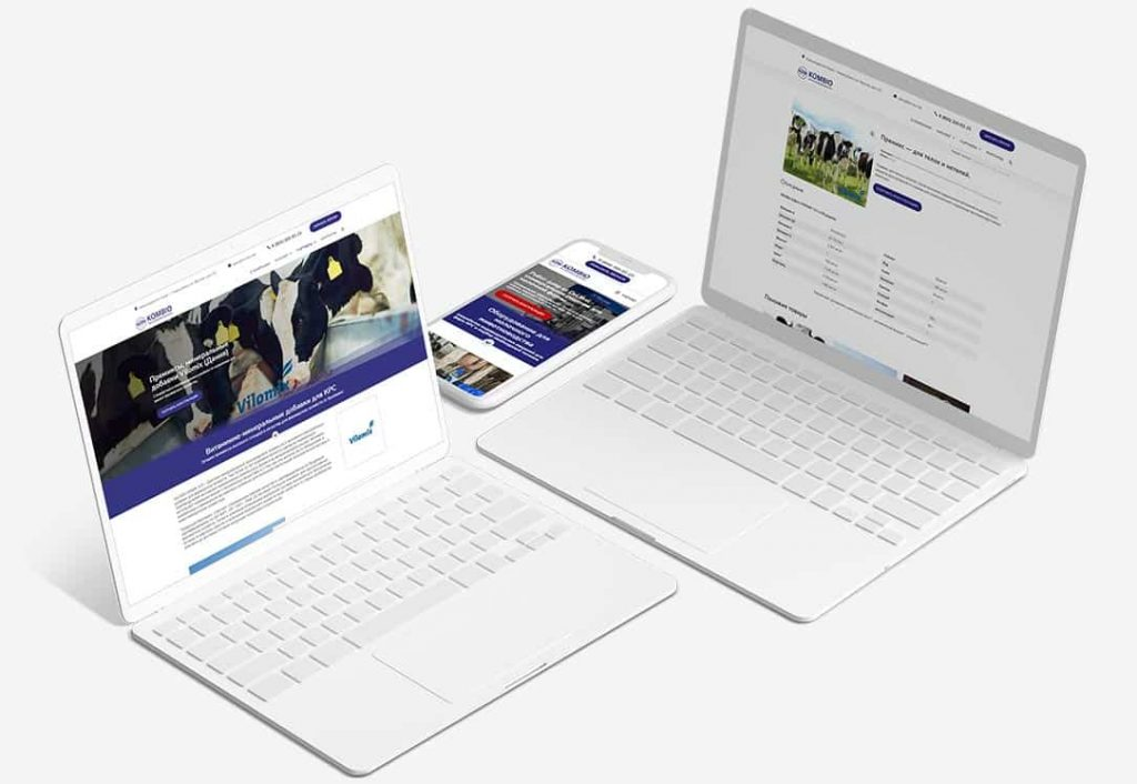 Сайт-каталог для компании Kombio